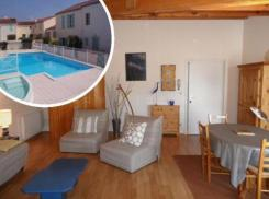 ile de ré Large 38m2 studio with sea view - swimming pool and secure parking in residence