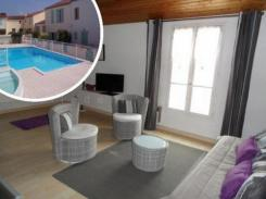 ile de ré Large t2 bis of 48m2 in residence with swimming pool and parking